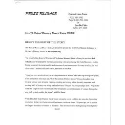 NWHM first press release