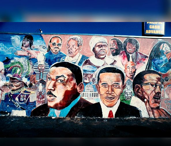 MLK Jr. Barack Obama and Malcolm X
