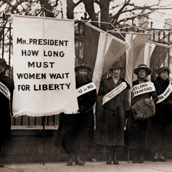 Women Protest in Front of White House