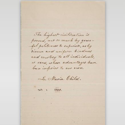 Letter from Lydia Maria Child