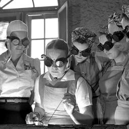 Airplane Construction Class, April 1942