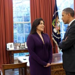 Kimberly Teehee and President Obama