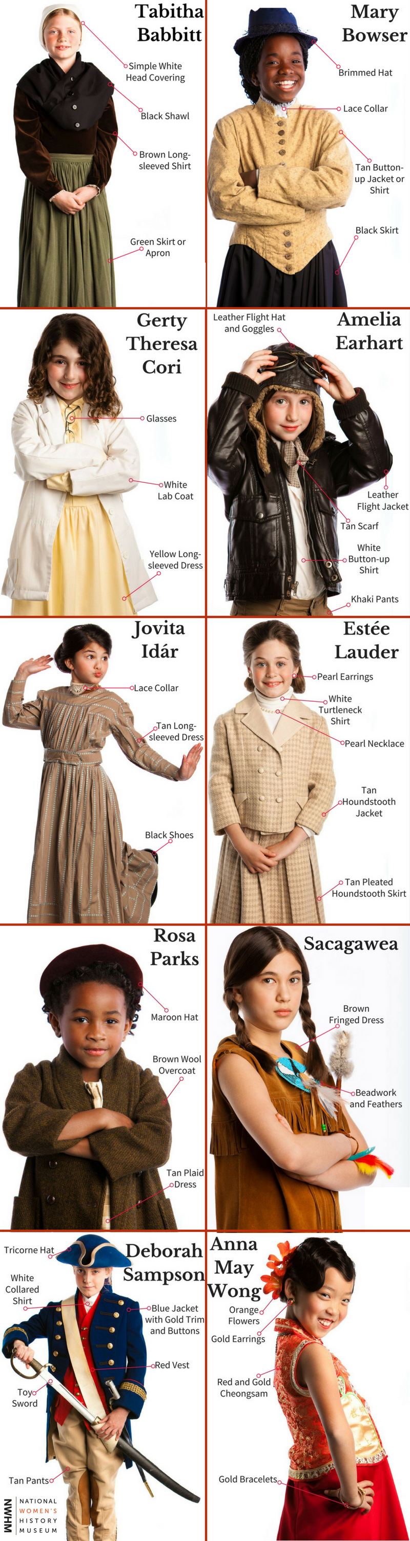 Looking for a womenu0027s history Halloween costume? Watch this video to learn about 10 notable women in history then scroll down to find out how to create your ...  sc 1 st  National Womenu0027s History Museum & Womenu0027s History Costume Ideas | National Womenu0027s History Museum