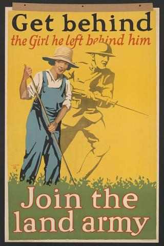 World War I,WWI,Woman/'s Land Army of America,University of Virginia,c1918