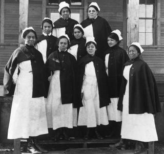 African American nurses at Camp Sherman, 1919