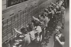 Bell System Telephone Switchboard Women