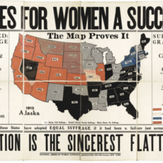 Votes for Women map