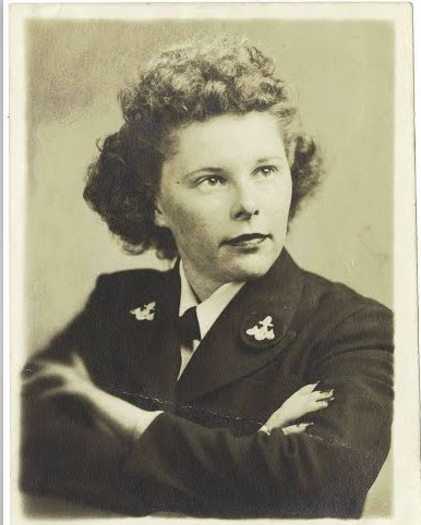 1945 World War II WAC Young Women Photo US Army Officers Party Uniform Hair